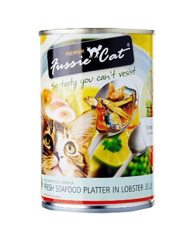 Fussie Cat Fresh Seafood Platter In Lobster Jelly Canned Cat Food ( 400g ) | Perromart Online Pet Store Malaysia