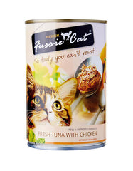 Fussie Cat Fresh Tuna With Chicken Canned Cat Food ( 400g ) | Perromart Online Pet Store Malaysia