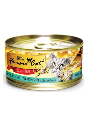 Fussie Cat Grain Free Chicken with Anchovies Formula in Gravy Canned Cat Food ( 80g ) | Perromart Online Pet Store Malaysia