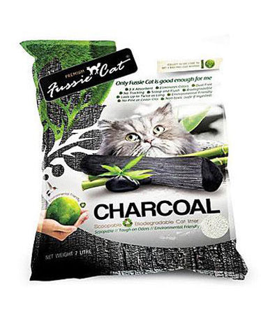 Fussie Cat Natural Charcoal Paper Cat Litter ( 7L ) | Perromart Online Pet Store Malaysia