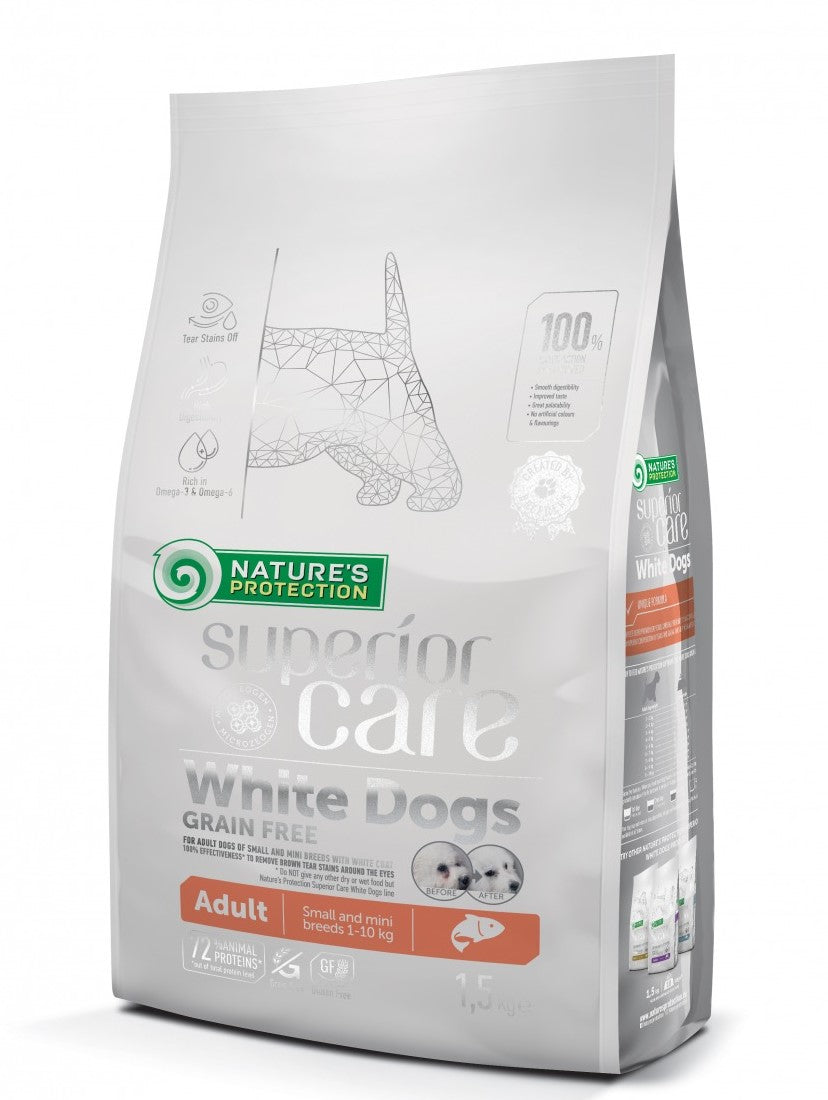 Nature's Protection Superior Care White Dog Grain Free Salmon Adult Dry Dog Food (2 sizes)