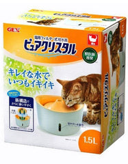 Gex Pure Crystal Fountain 1.5L for Cat with Indictator (Orange) | Perromart Online Pet Store Malaysia