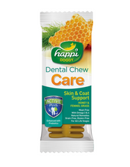 Happi Doggy Dental Chew Care Fennel Grass & Honey (Skin & Coat Support) 4 - 50Pcs | Perromart Online Pet Store Malaysia