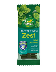 "Happi Doggy Dental Chew Zest Mint 4""- 50Pcs 