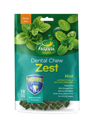 Happi Doggy Dental Chew Zest Petite Mint 150g | Perromart Online Pet Store Malaysia