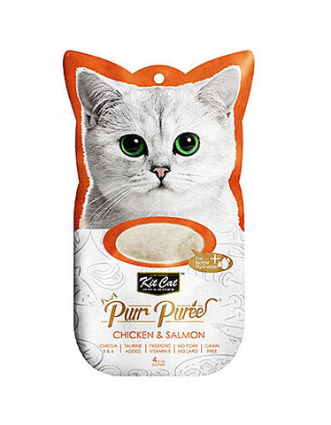 Kit Cat Purr Puree Chicken & Salmon Cat Treat | Perromart Online Pet Store Malaysia