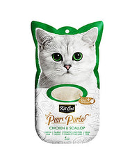 Kit Cat Purr Puree Chicken & Scallop Cat Treat | Perromart Online Pet Store Malaysia
