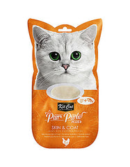 Kit Cat Purr Puree Plus Skin & Coat Chicken Cat Treats | Perromart Online Pet Store Malaysia