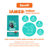 IAMS Indoor Weight & Hairball Care Cat Dry Food (3 sizes)