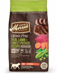 Merrick Grain Free Real Lamb & Sweet Potato Dry Dog Food | Perromart Online Pet Store Singapore
