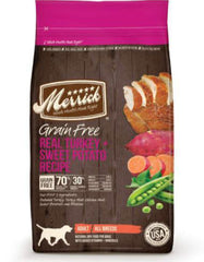 Merrick Grain Free Real Turkey & Sweet Potato Dry Dog Food (2 sizes)
