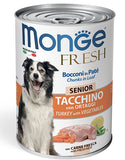 Monge Chunks in Loaf Turkey with Vegetables for Senior 400g | Perromart Online Pet Store Malaysia