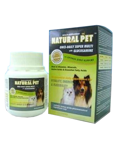 Natural Pet Multivitamin + Glucosamine For Pets (2 Sizes) | Perromart Online Pet Store Malaysia