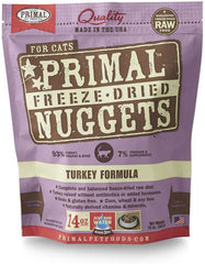 Primal Freeze Dried Feline Turkey Nuggets | Perromart Online Pet Store Singapore