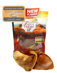 Alps Natural Farm Fresh Piggy Chews Pig Ears Dog Treats 2pcs
