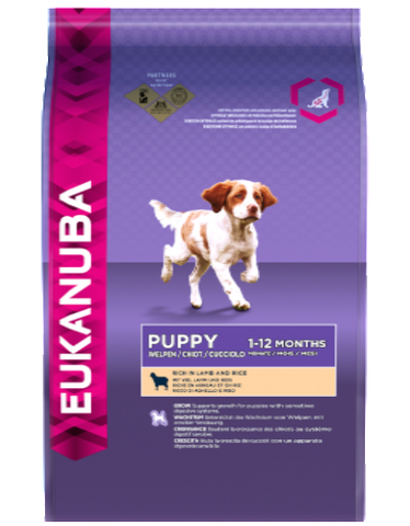 Eukanuba Natural Puppy Lamb & Rice Formula Dry Dog Food (3 sizes)