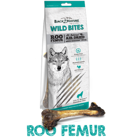 Back 2 Nature Wild Bites Roo Femurs Dog Treats (1 pcs)