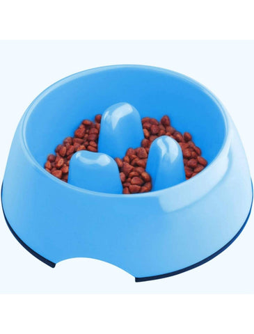 Super Design Light Blue Melamine Slow Feeder Bowl for Dogs Size Small| Perromart Online Pet Store Malaysia
