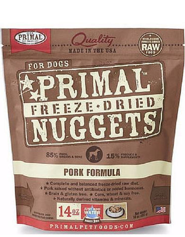 Primal Freeze Dried Canine Pork Nuggets (2 sizes)
