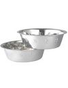 Tulip Stainless Steel Side Embossed Pet Bowl | Perromart Online Pet Store MY