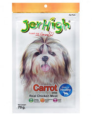 Jerhigh Snack Real Chicken Meat Carrot Flavor Dog Treat | Perromart Online Pet Store Malaysia