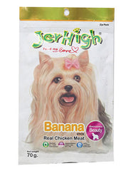 Jerhigh Snack Chicken Meat Banana Flavor Dog Treat | Perromart Online Pet Store Malaysia