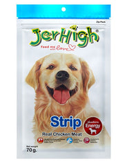 Jerhigh Snack Real Chicken Meat Strip Flavor Dog Treat | Perromart Online Pet Store Malaysia