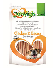 VP Jerhigh Snack Chicken Flavor Bacon Dog Treat | Perromart Online Pet Store Malaysia