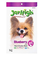 Jerhigh Snack Chicken Meat Blueberry Flavor Dog Treat | Perromart Online Pet Store Malaysia
