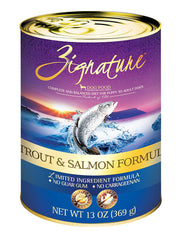 Zignature Trout & Salmon Formula Dog Canned Food | Perromart Online Pet Store Malaysia