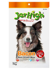 Jerhigh Snack Chicken Meat Bacon Flavor Dog Treat | Perromart Online Pet Store Malaysia