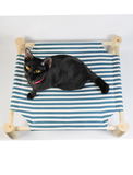 Ultra Flow Wood Elevated Bed Blue| Perromart Online Pet Store Malaysia