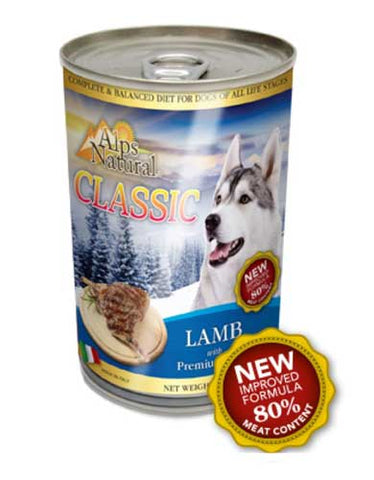 Alps Natural Classis Lamb Canned Dog Food 400gm | Perromart Online Pet Store Malaysia