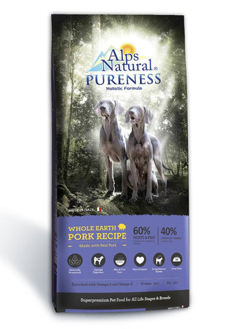 Alps Natural Pureness Whole Earth Pork Recipe Dry Dog Food (2sizes)