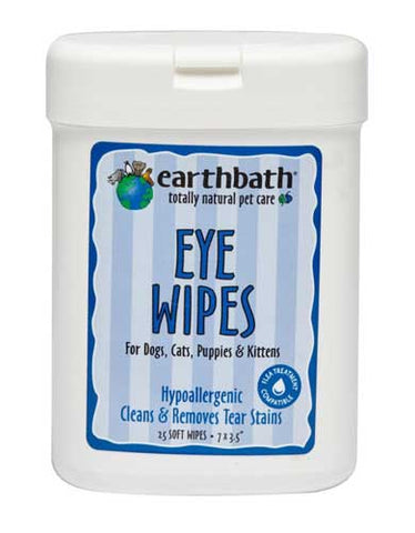 Earthbath All Natural Specialty Eye Wipes for Pet 25ct | Perromart Online Pet Store MY