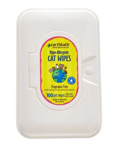 Earthbath Cat Hypo-Allergenic Wipes 100ct | Perromart Online Pet Store MY