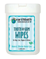 EarthBath Tooth & Gum Dental Wipes 25ct | Perromart Online Pet Store MY