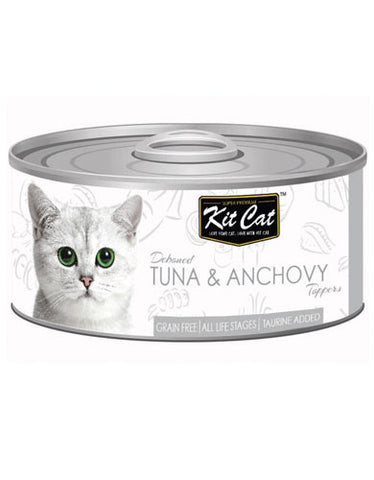 Kit Cat Deboned Tuna & Anchovy Wet Food 80g | Perromart Online Pet Store Malaysia