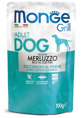 Monge Grill Cod Fish Dog Wet Food (100g)