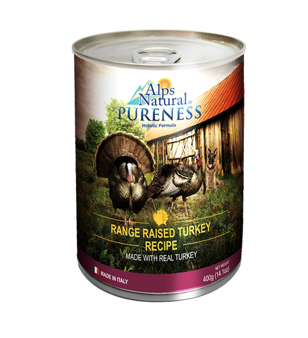 Alps Natural Pureness Range Raised Turkey Recipe Wet Dog Food 400g