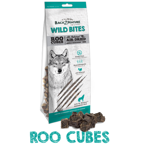 Back 2 Nature Wild Bites Roo Cubes Dog Treats 100g