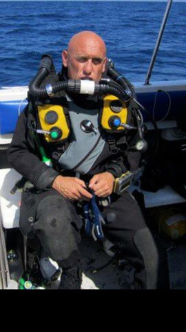 John Crawshaw, Diving instructor for Recreational & Technical, CCR Diver/Guide for 15 years, Hollis Prism 2 Instructor