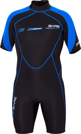 Bare S-Flex 2mm Shorty Wetsuits - Clearance Sale - Dive Manchester
