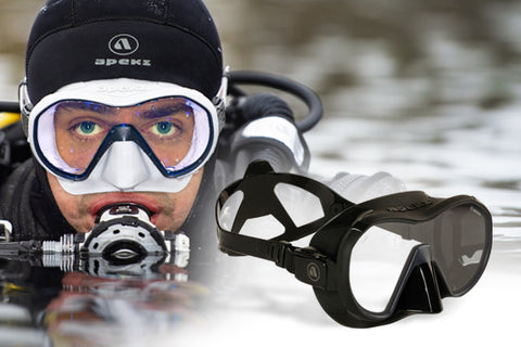 New!! Apeks VX1 Pure Clear Mask - Dive Manchester