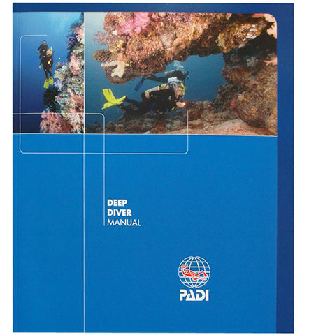 PADI Deep Diver Specialty Course Manual, available at Dive Manchester