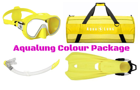 Aqualung Colour Package - Blue/Yellow/Aqua
