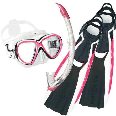 "Aqualung ""New"" Reveal X2 & Phazer Fins Snorkelling Set - Dive Manchester"