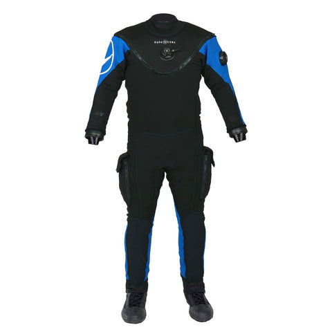 Aqualung Fusion Bullet AirCore Drysuits Blue - New!! - Dive Manchester