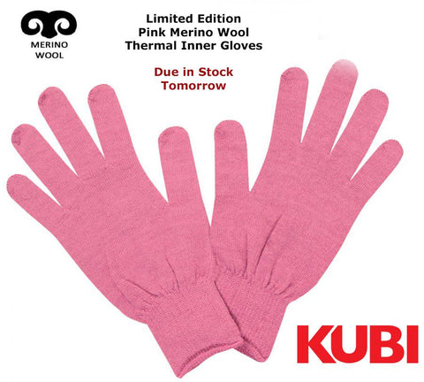 KUBI Pink Merino Wool Thermal Inner Gloves - Dive Manchester