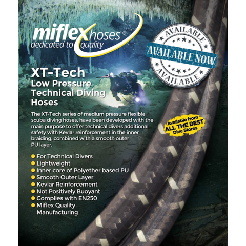 "Miflex XT-Tech LP 3/8"" Regulator Hose - Dive Manchester"